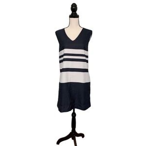 2/$25 Gap Chambray Navy Blue Striped Shift dress